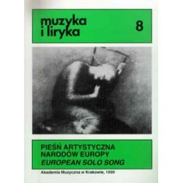 PIEŚŃ ARTYSTYCZNA NARODÓW EUROPY/EUROPEAN SOLO SONG
